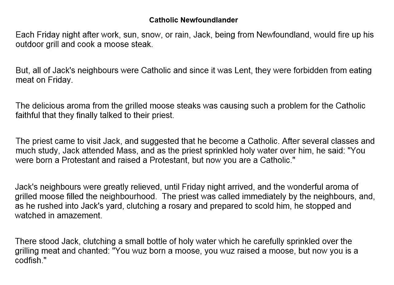 CATHOLIC NEWFOUNDLANDER