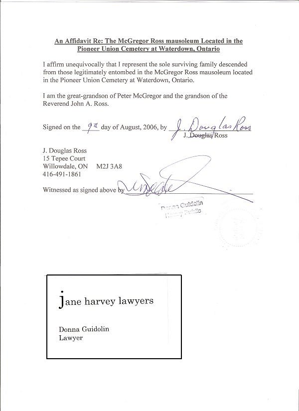 Notarized Affidavit on 416 html