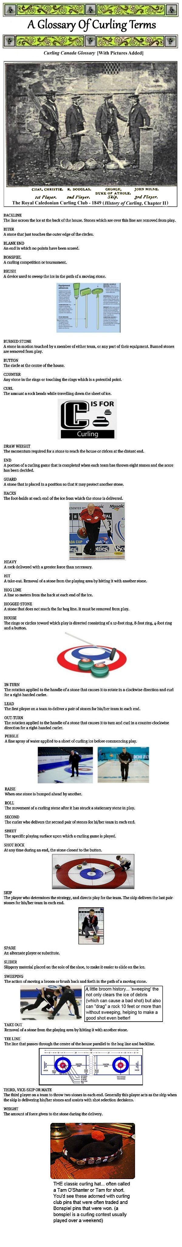 CURLING GLOSSARY